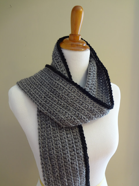 Crochet Outline Stitch : Fiber Flux: Free Crochet Pattern...Outline Ribbed Scarf