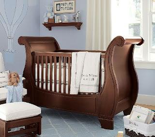dormitorio de bebé marrón chocolate