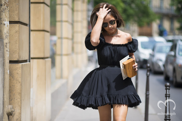 mitograph Miroslava Duma Before Ulyana Sergeenko 2014 Paris Fashion Week Haute Couture Street Style By Shimpei Mito