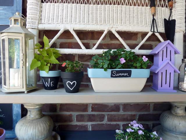 chalkboard flower pots