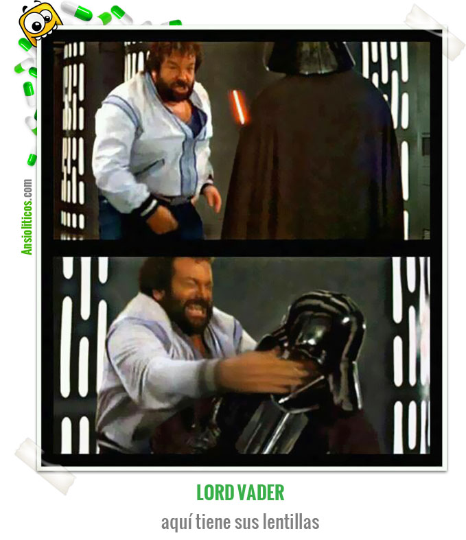 Chiste de Star Wars: Darth Vader vs Bud Spencer