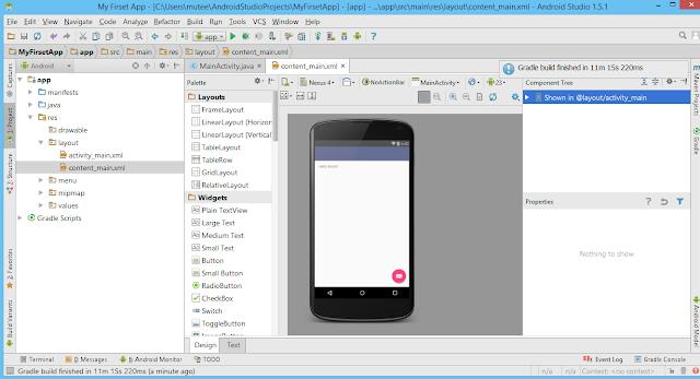 انشاء ةتسغيل اول, تطبيق اندرويد, على, اندرويد استديو,Android Studioو