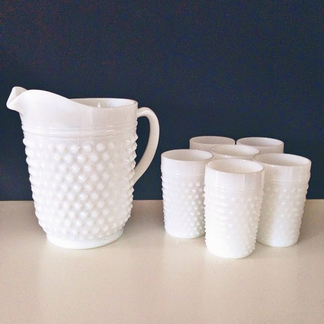#thriftscorethursday Week 25 | Instagram user: brightgreendoor shows off this Milk Glass Collection