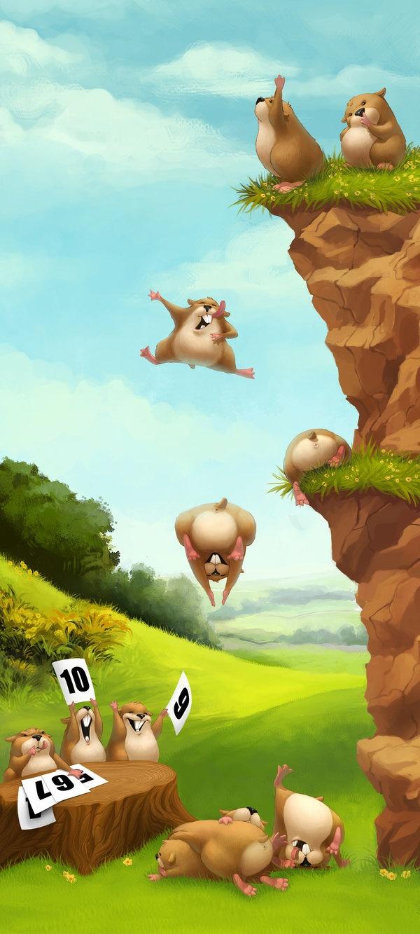Sjov med lemminger-selvmord