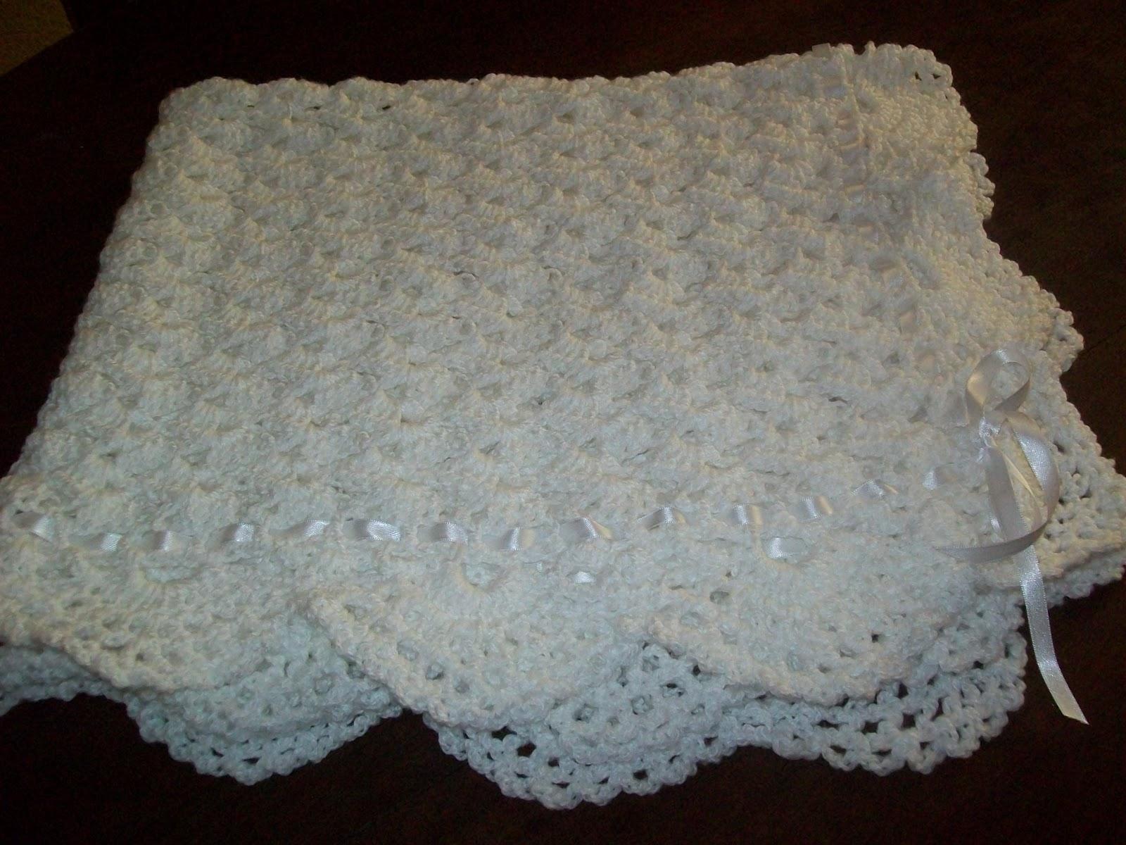 Puntos crochet para mantilla bebé - Imagui