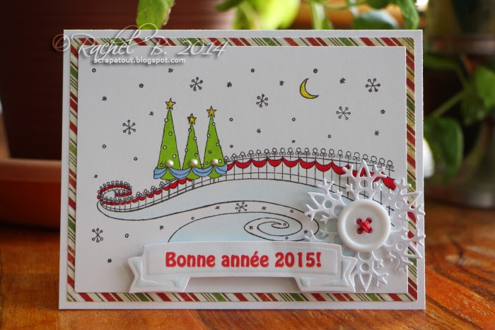 Holidays card Impression Obsession Park Fence