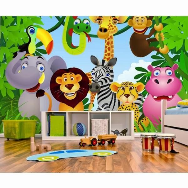 La d coration murale vue par magisticks l 39 intiss un papier peint nouvelle g n ration - Decoration animaux de la jungle ...