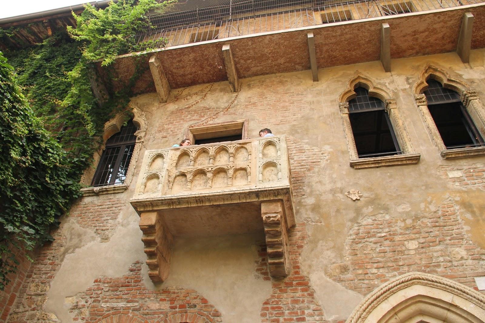 балкончик Джульеты в Вероне