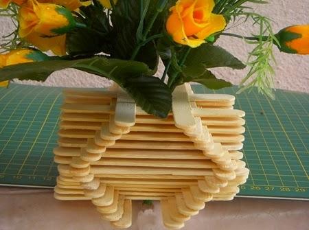 Kreasi Membuat Pot Bunga Dari Stik Es Krim Aneka Kreasi