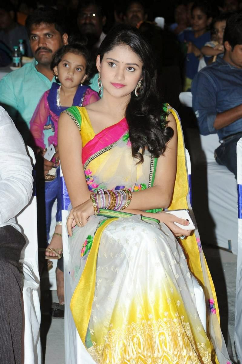 Actress khushi in Floral Work Saree