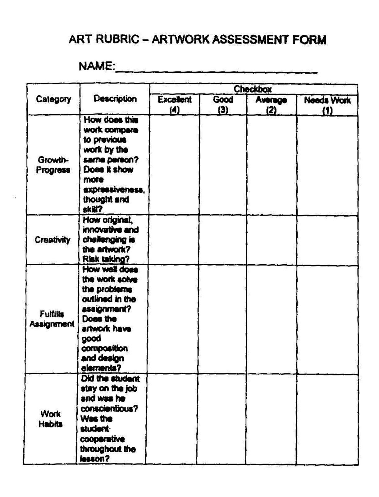 41 best images about Rubric – Sample Talent Show Score Sheet