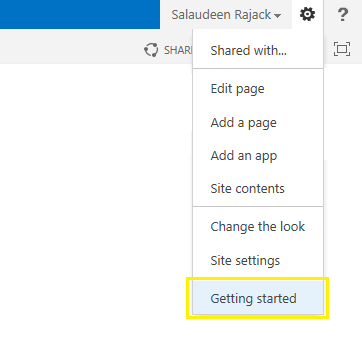 sharepoint 2013 get started with your site customize