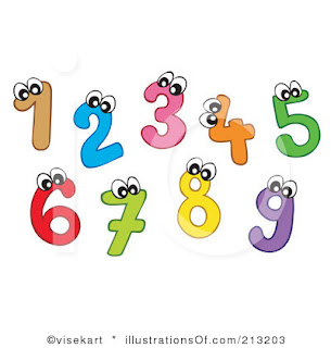 Enjoy english numbers game for Free clipart numbers