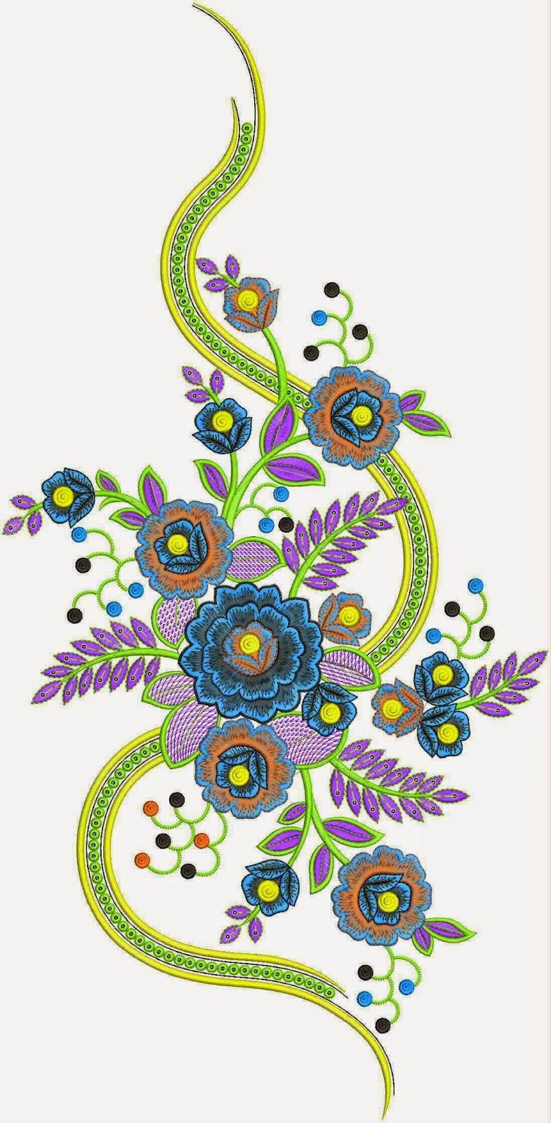 Natuurlike groot blom ontwerp appliekwerk