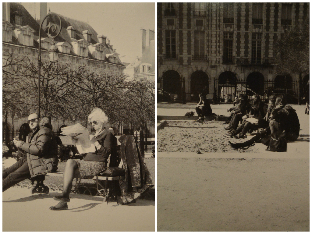 Photography: People in Place des Vosges, Paris