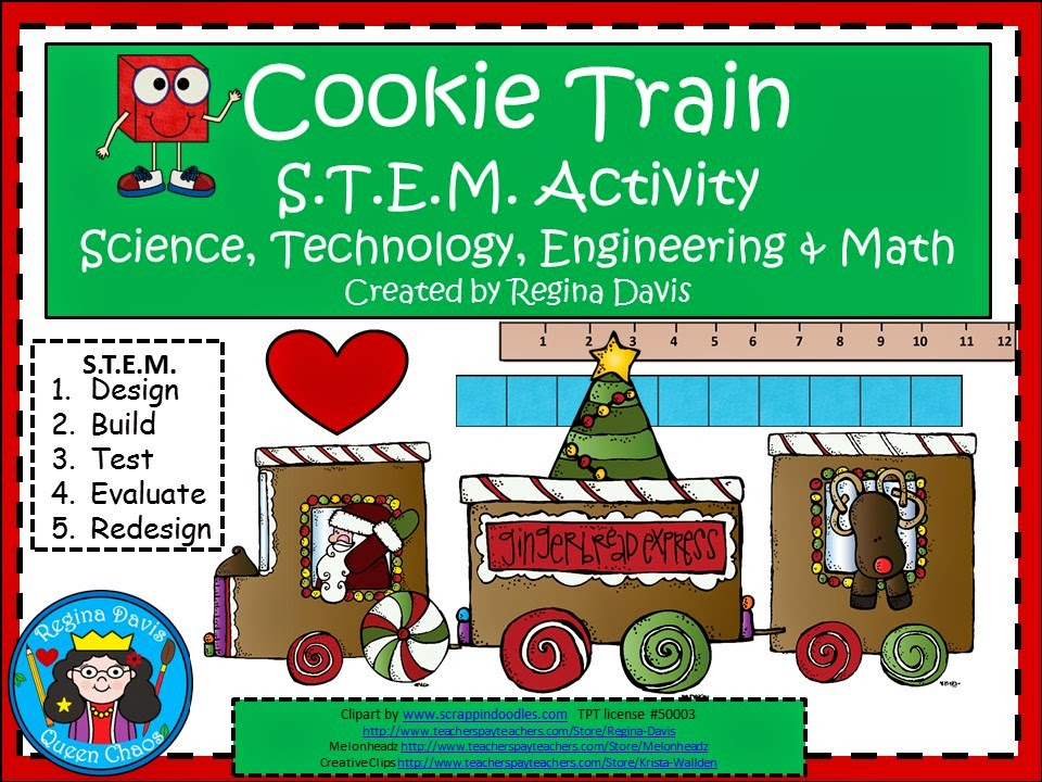 http://www.teacherspayteachers.com/Product/A-Cookie-Train-STEM-ActivityScience-Technology-Engineering-Math-1597325