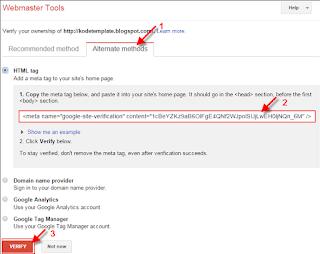 CAra mendaftarkan blog ke webmaster tool terbaru