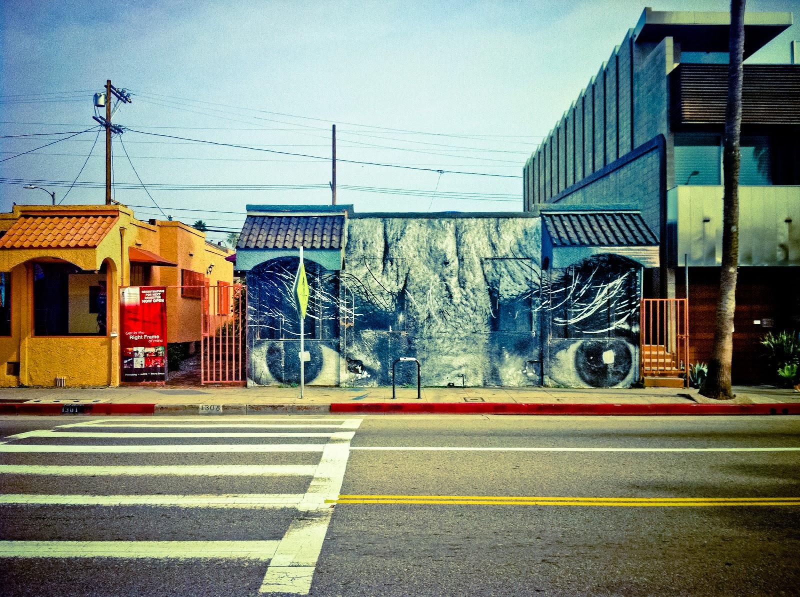 JR Mural On Abbot Kinney Blvd Venice California