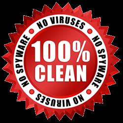 100% CLEAN