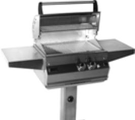 Post Mount Gas Grill