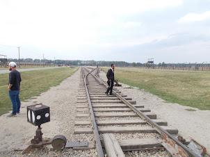 "Train tracks of ""Auschwitz II-Bikenau"" Concentration camp."