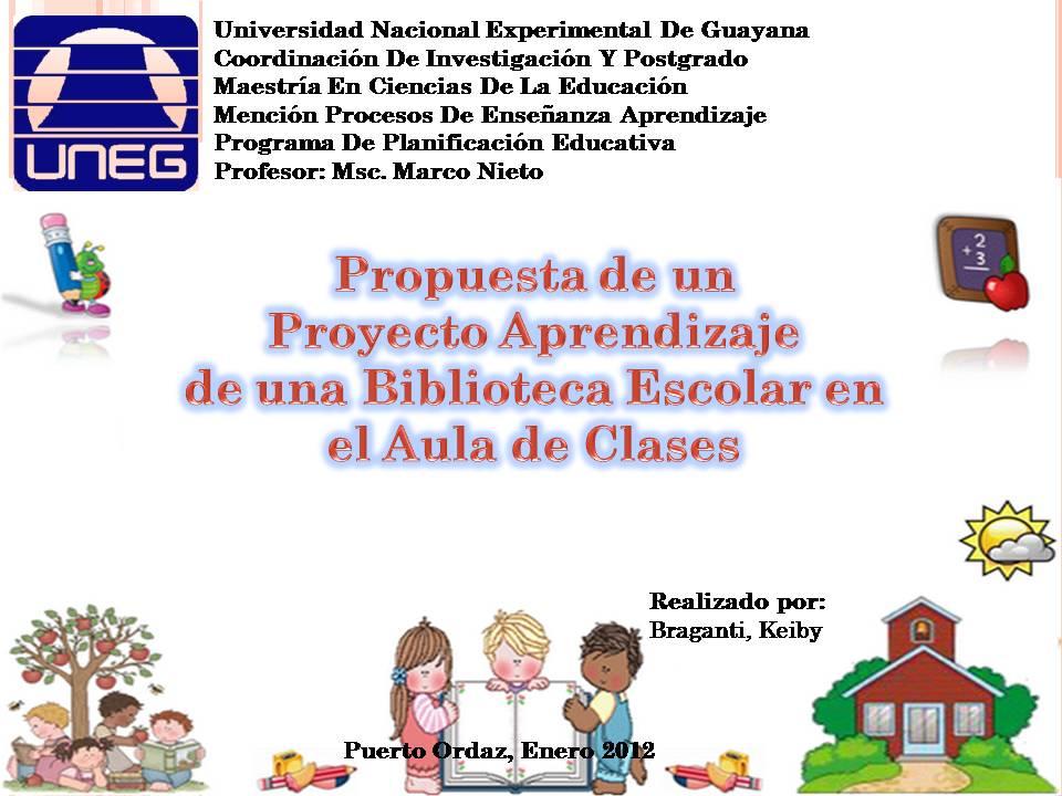Planificar para educar exitosamente propuesta de un for Propuesta para una cantina escolar