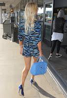 Paris Hilton blue heels