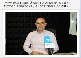 Entrevista radiofónica a Miguel Ángel Riesgo
