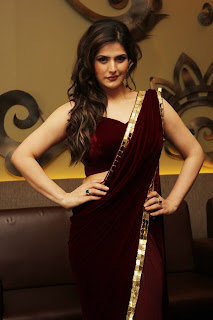Actress Zarine Khan Pictures in Saree to Announce their Participation at the India Wedding Lounge 0003