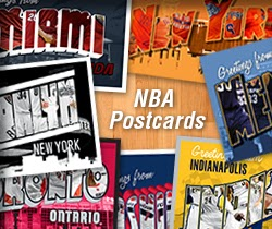 nba postcards, America, United States