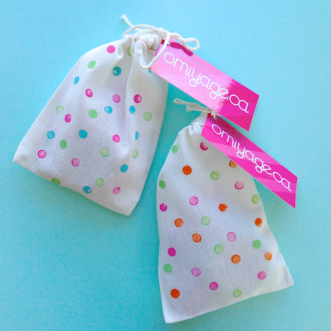 Omiyage Blogs: DIY: Confetti Dots Drawstring Bags