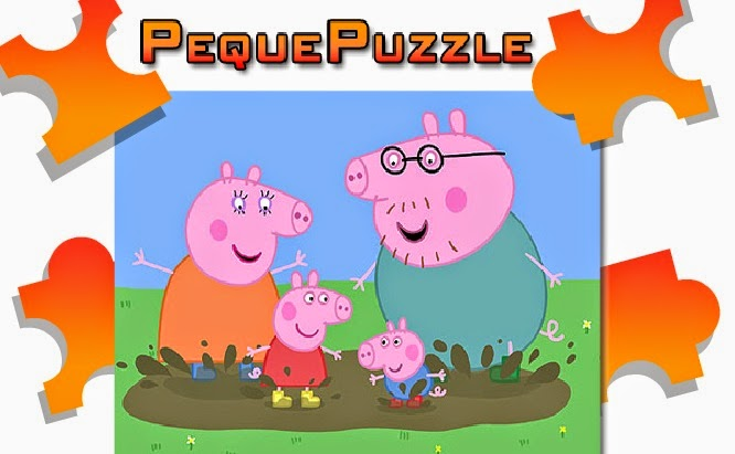 Peppa Pig free fun jigsaw puzzle game games