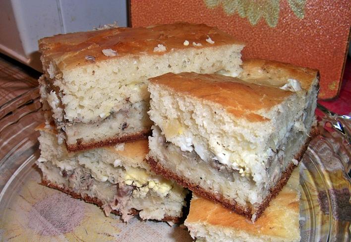 Пирог заливной