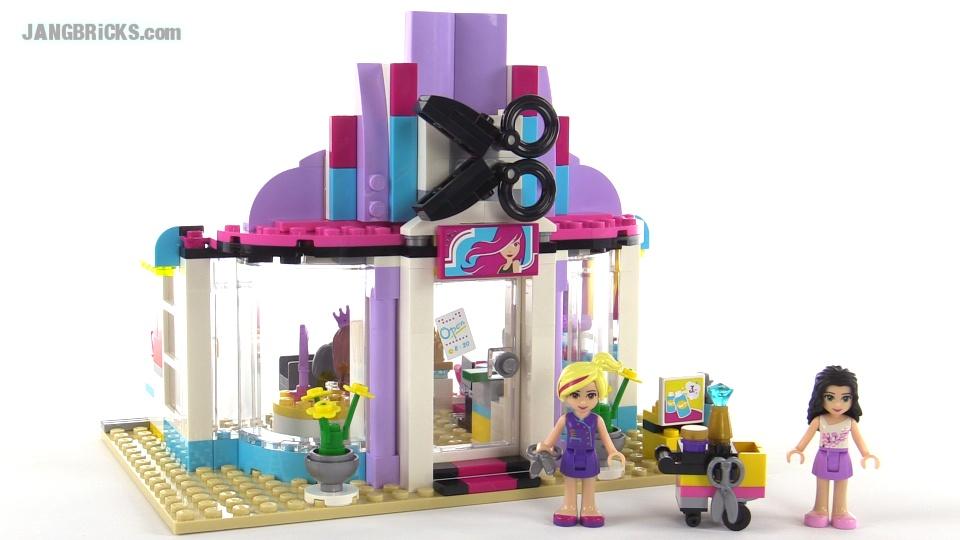 Lego friends heartlake hair salon review set 41093 for Salon de coiffure lego friends