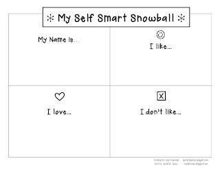 self smart day, multiple intelligences, gwhizteacher, snowball greeting, morning meeting