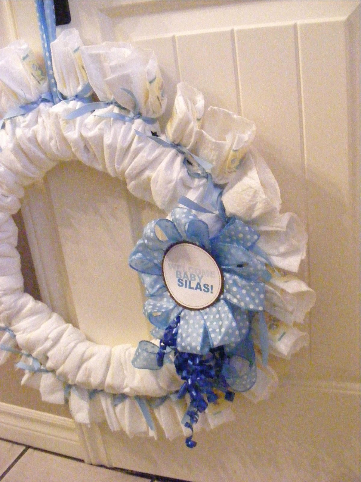 complete guide to imperfect homemaking a baby shower diaper wreath