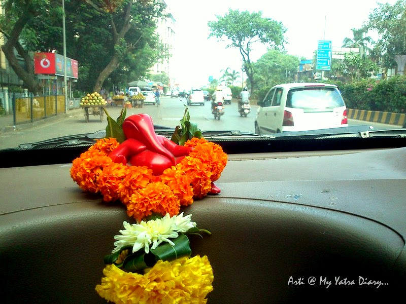 Lord Ganesh in the car - India Travel