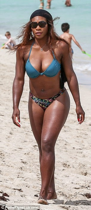 The FICKLIN MEDIA GROUP,LLC: Serena Williams shows no one can compete with her out of this world curves in a tiny bikini | Mail Online