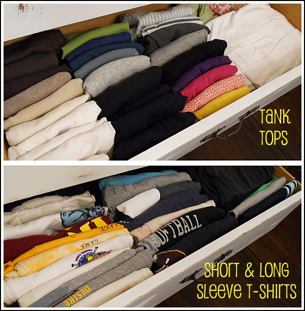 Creative life designs fifteen minutes of organizing for T shirt drawer organization