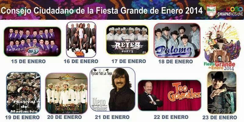 Programa Teatro del pueblo Fiesta Grande Chiapa de Corzo 2014