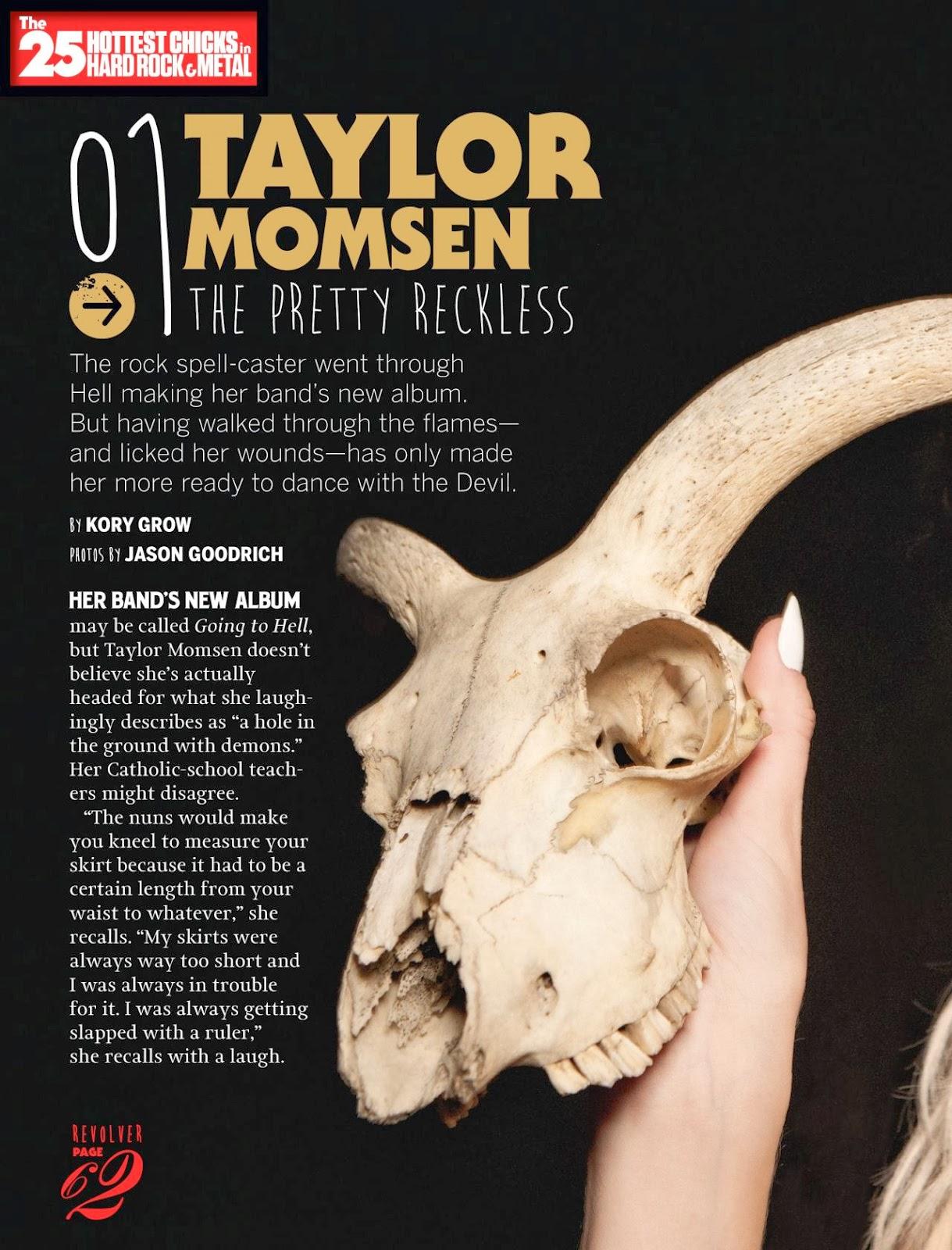 Magazine Photoshoot : Taylor Momsen Photoshot For Revolver Magazine February/March 2014 Issue