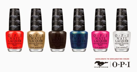 Nail Lacquer Colors Revealed for OPI Ford Mustang Collection