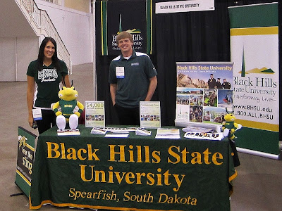 Black Hills State University admissions counselors at a college fair