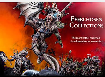 Varios packs de ejército con Archaón y sus Everchosen