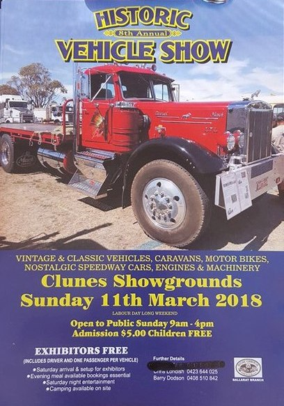 Historic Vehicle Show Clunes