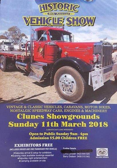 Historic Vehicle Show Clunes