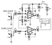 9v headphone amplifier ne5534 electronic diagram