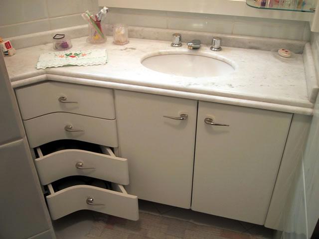 Marcenaria Pratica Armários para banheiro  Personalizados -> Armario De Banheiro Marcenaria