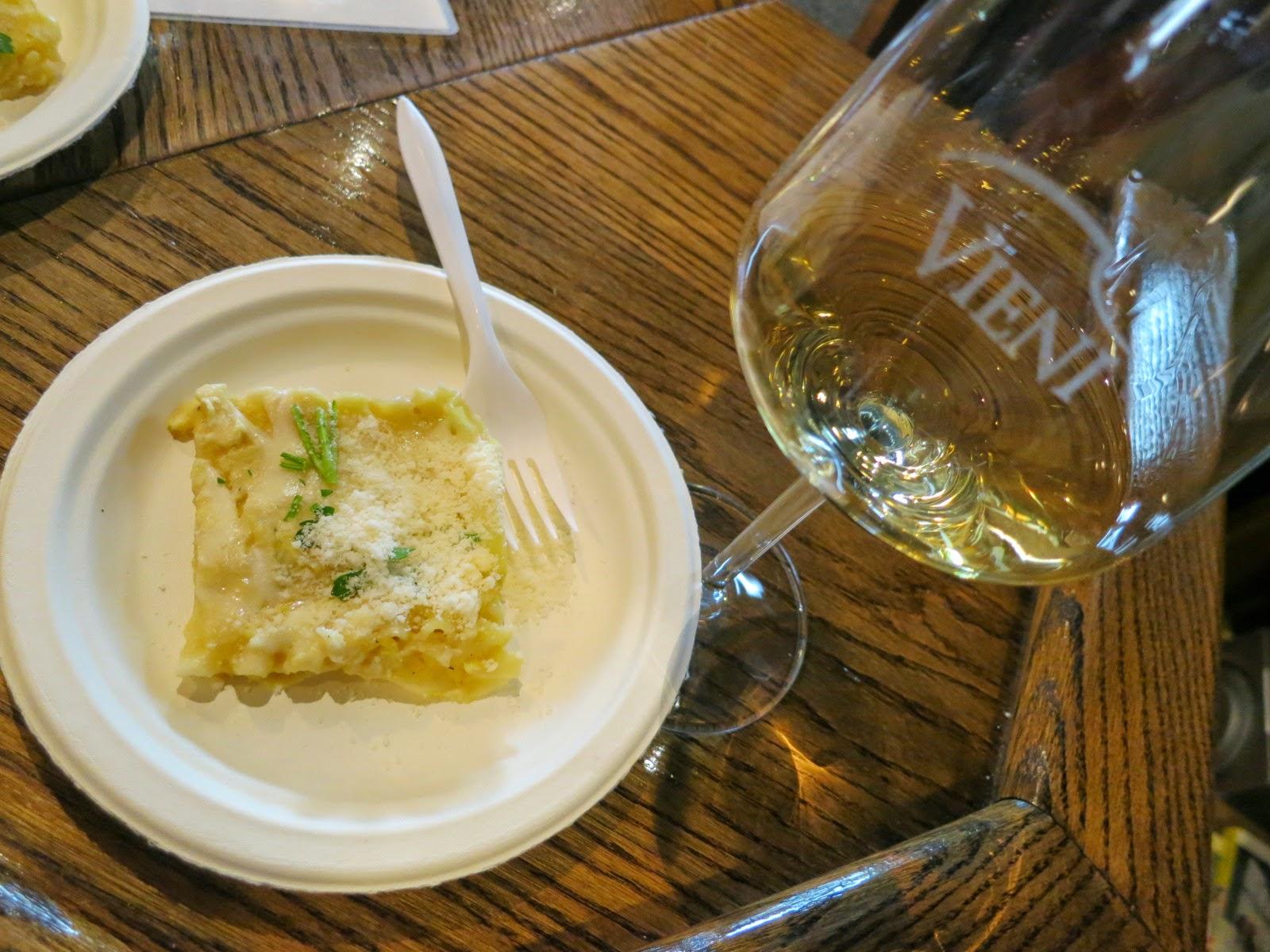 Butternut quash lasagna paired 2012 Vieni Chardonnay