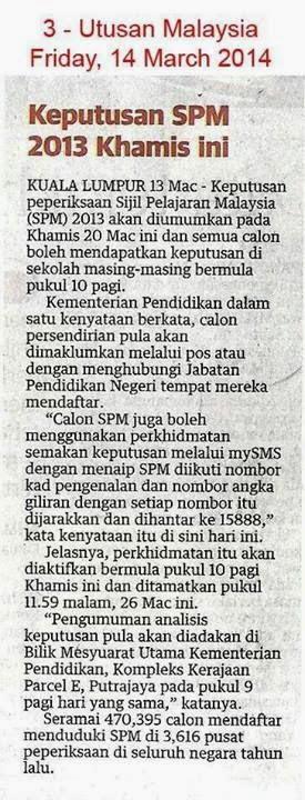 Semak Spm 2013 Guna Sms Pendidik2u